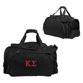 Challenger Team Black Sport Bag-Kappa Sigma - Greek Letters - 2 Color