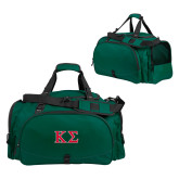 Challenger Team Dark Green Sport Bag-Kappa Sigma - Greek Letters - 2 Color