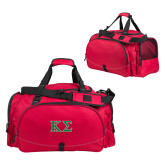 Challenger Team Red Sport Bag-Kappa Sigma - Greek Letters - 2 Color