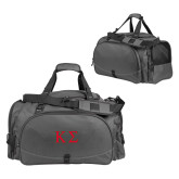 Challenger Team Charcoal Sport Bag-Kappa Sigma - Greek Letters - 2 Color
