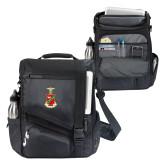 Momentum Black Computer Messenger Bag-Crest