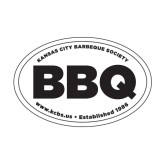 Medium Decal-Oval BBQ, 8in wide