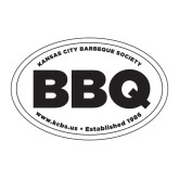 Large Decal-Oval BBQ, 12in wide