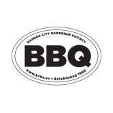 Small Decal-Oval BBQ, 6in wide