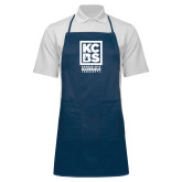 Full Length Navy Apron-Kansas City Barbeque Society