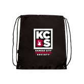 Black Drawstring Backpack-Kansas City Barbeque Society