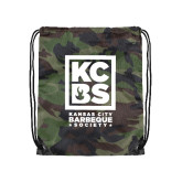 Camo Drawstring Backpack-Kansas City Barbeque Society
