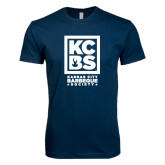 Next Level SoftStyle Navy T Shirt-Kansas City Barbeque Society