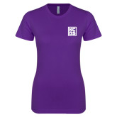 Next Level Ladies SoftStyle Junior Fitted Purple Tee-KCBS
