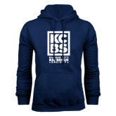 Navy Fleece Hoodie-Kansas City Barbeque Society