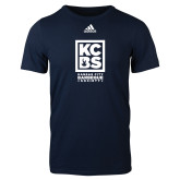 Adidas Navy Logo T Shirt-Kansas City Barbeque Society