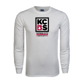 White Long Sleeve T Shirt-Kansas City Barbeque Society
