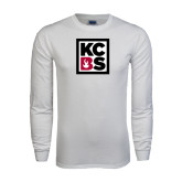 White Long Sleeve T Shirt-KCBS
