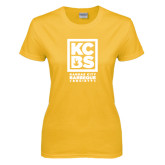 Ladies Gold T Shirt-Kansas City Barbeque Society