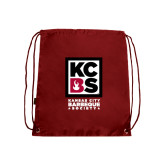 Cardinal Drawstring Backpack-Kansas City Barbeque Society