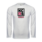 Syntrel Performance White Longsleeve Shirt-Kansas City Barbeque Society
