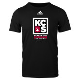 Adidas Black Logo T Shirt-Kansas City Barbeque Society
