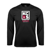 Syntrel Performance Black Longsleeve Shirt-Kansas City Barbeque Society