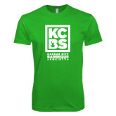 Next Level SoftStyle Kelly Green T Shirt-Kansas City Barbeque Society