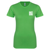 Next Level Ladies SoftStyle Junior Fitted Kelly Green Tee-KCBS