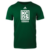 Adidas Dark Green Logo T Shirt-Kansas City Barbeque Society