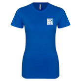 Next Level Ladies Softstyle Junior Fitted Royal Tee-KCBS