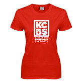 Ladies Red T Shirt-Kansas City Barbeque Society