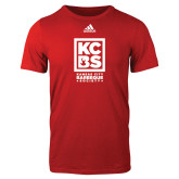 Adidas Red Logo T Shirt-Kansas City Barbeque Society