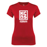 Ladies Syntrel Performance Red Tee-Kansas City Barbeque Society