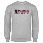 Grey Fleece Crew-Kansas City Barbeque Society Flat