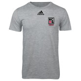 Adidas Sport Grey Logo T Shirt-Kansas City Barbeque Society