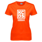 Ladies Orange T Shirt-Kansas City Barbeque Society