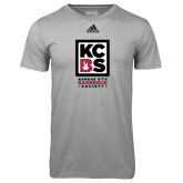 Adidas Climalite Sport Grey Ultimate Performance Tee-Kansas City Barbeque Society