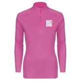 Ladies Syntrel Interlock Raspberry 1/4 Zip-KCBS