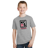 Youth Grey T-Shirt-Kansas City Barbeque Society