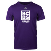 Adidas Purple Logo T Shirt-Kansas City Barbeque Society
