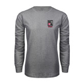 Grey Long Sleeve T Shirt-Kansas City Barbeque Society