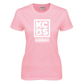 Ladies Pink T Shirt-Kansas City Barbeque Society
