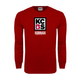 Cardinal Long Sleeve T Shirt-Kansas City Barbeque Society
