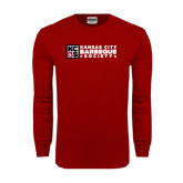 Cardinal Long Sleeve T Shirt-Kansas City Barbeque Society Flat