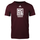 Adidas Maroon Logo T Shirt-Kansas City Barbeque Society