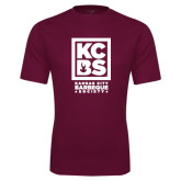 Performance Maroon Tee-Kansas City Barbeque Society