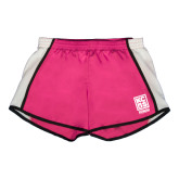Ladies Fuchsia/White Team Short-Kansas City Barbeque Society
