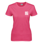 Ladies Fuchsia T Shirt-KCBS