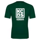 Performance Dark Green Tee-Kansas City Barbeque Society