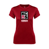 Ladies Syntrel Performance Cardinal Tee-Kansas City Barbeque Society