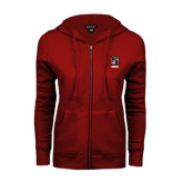 ENZA Ladies Cardinal Fleece Full Zip Hoodie-Kansas City Barbeque Society