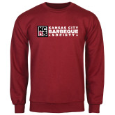 Cardinal Fleece Crew-Kansas City Barbeque Society Flat