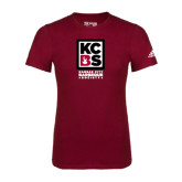 Adidas Cardinal Logo T Shirt-Kansas City Barbeque Society