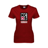Ladies Cardinal T Shirt-Kansas City Barbeque Society
